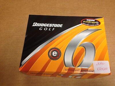 New Bridgestone e6 Golf Balls 12 GOLF BALLS ENGRAVED