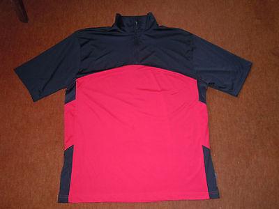 TOP Golf Shirt Gr. XL von WEIR GOLF Beste Qualität chices Design in Schwarz-Rot