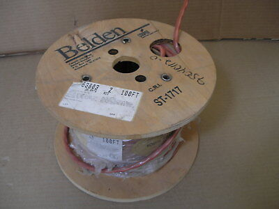 3 Ft. Belden 83803 Red Shield Plenum 12 Awg Cable Wire 3c Teflon Fep