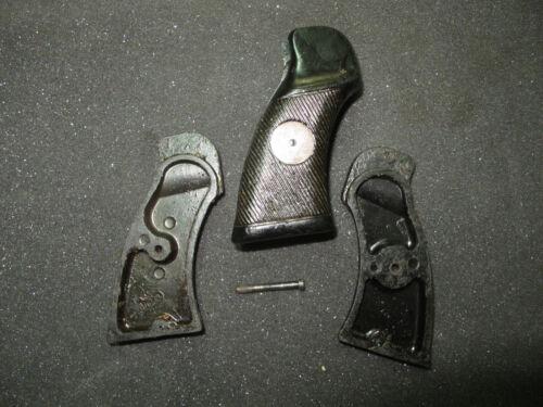 British Enfield Revolver No.2 MKIII Grips Bakelite Brass Mar Disk 1942-45