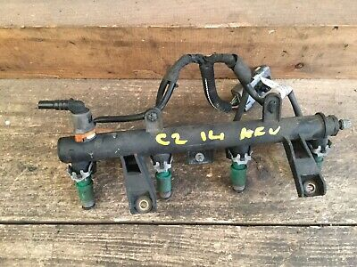PEUGEOT 207 07-11 1.4 8V Petrol Engine Code KFV FUEL  RAIL WITH INJECTOR & LOOM