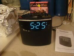 Sylvania Bluetooth Clock Radio w/ Auto-Set Dual Alarm Clock USB Charging Tested
