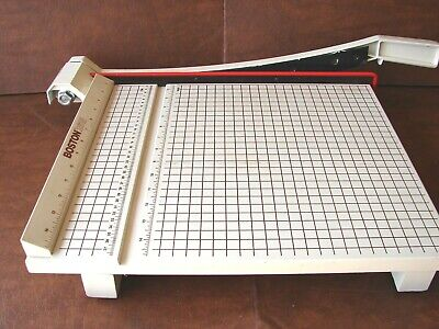 Vintage Boston 2615 Large Paper Trimmer Cutter Guillotine Style 15 Square
