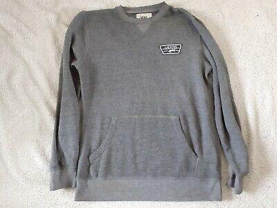 Vans grey jumper size medium skateboard logo *small hole in back*