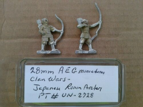 28mm AEG Miniatures  Clan wars  Japanese Ronin Archers