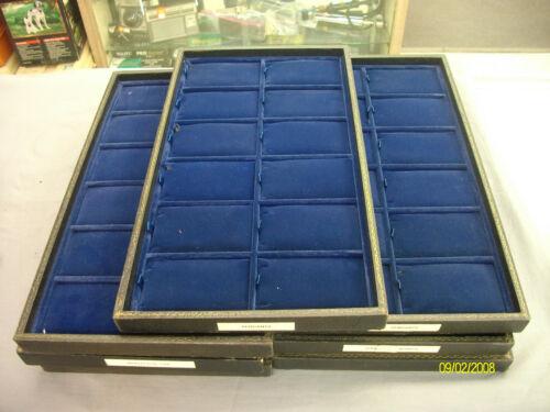 7 -- Vintage Velvet 12 - Pendant display tray. (blue)