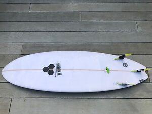 "Channel Islands Al Merrick Pod 5'10"" with brand new future fins"
