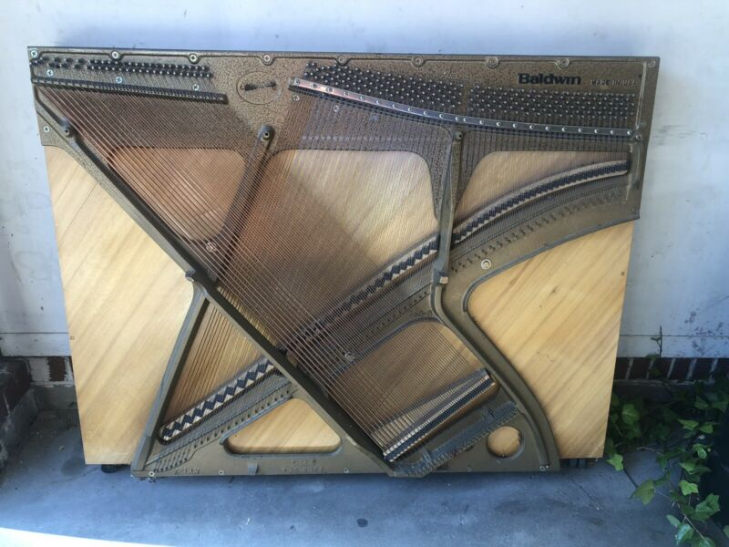 Baldwin Upright Piano Harp Soundboard Art With Strings. Unique Gift!