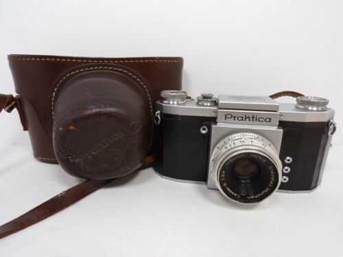 Vintage Praktica 35mm Film Camera Germany Includes Original Leather Case