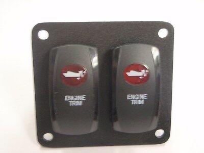 ENGINE TRIM TILT SWITCH V8D1A60B PSC21B LIGHTED BLK RED LENS WIRED JACKPLATE