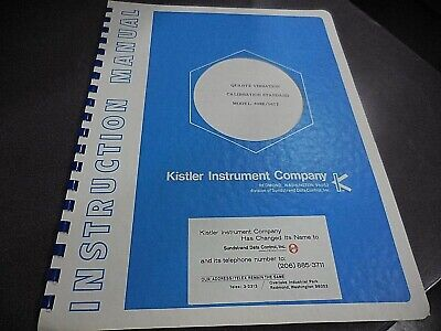 Kistler Quartz Vibration Calibration Standard Model 808k561t Instruction Manual
