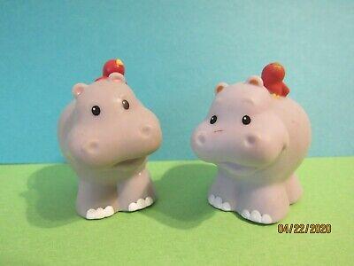 2 Hippopotamus - Fisher Price Little People - For Zoo / Noah's Ark