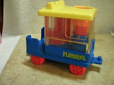 VINTAGE PLAYSKOOL LITTLE PEOPLE 1989 TROLLY CAR LOOSE