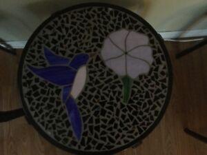 Beautiful glass mosaic tables