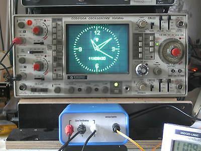 Osziuhr -  macht aus Ihrem CRT-Oszilloskop eine genaue Uhr !