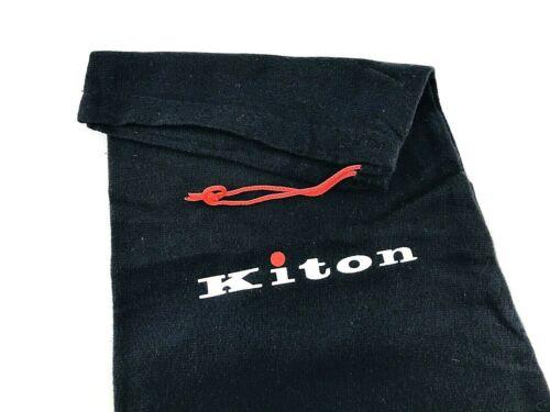 "KITON Dust Bag Shoe Protective Storage 15 X 7.5"" Black Drawstring Organizer"