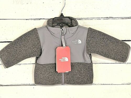 North Face Baby Grey Glacier Zipper Jacket SIZE 0 - 3M