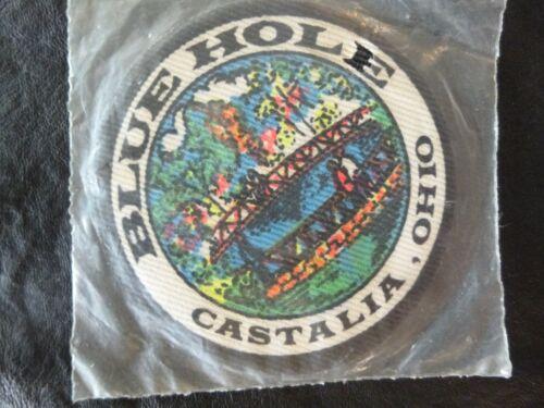Blue Hole-Castalia Ohio-Iron On Patch Souvenir-Tourist Attraction-Trout Stream