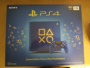 PS4 slim days of play edition 1TB mint barley used.