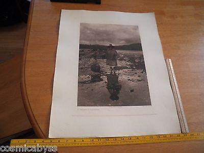 Edward S Curtis Photogravure 18x22 Tweedweave On the Beach Nakoaktok VINTAGE 339