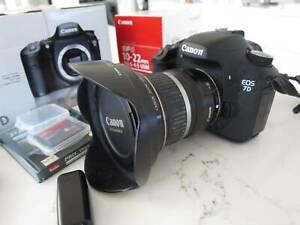 Canon EOS 7D DSLR with 10-22mm lens