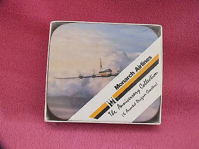 Monarch Airlines VERY RARE Set of Six 30th Anniversary Drinks Coasters BNIB