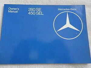 1980-Mercedes-280-SE-450-SEL-Owners-Manual-280SE