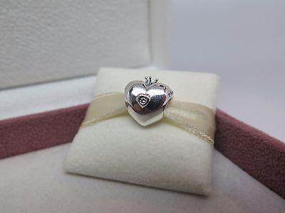 New w/BOX RETIRED 2015 Pandora Charm Club Heart w/ genuine Diamond Charm