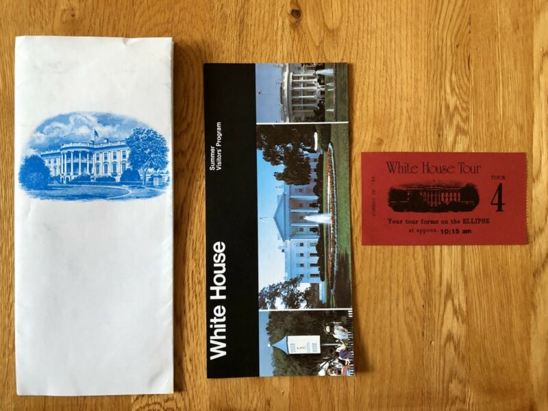 Vintage 1980s White House Travel Brochures + Ticket *Ronald Reagan Collectibles*