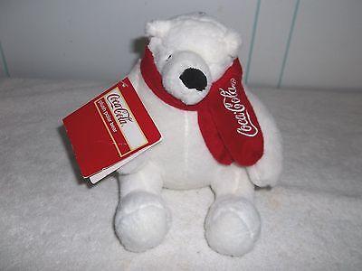 Coca Cola Polar Bear with Tags Soft Plush Doll