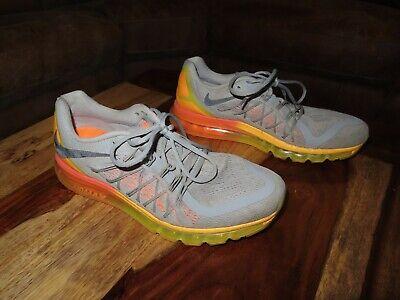 Nike Air Max 2015 Presto Pegasus Wolf Grey Total Orange 698902-080 React Size 11