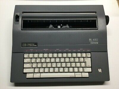 Smith Corona Electric Typewriter Model Sl480 Corona Excellent Cond. Works Great