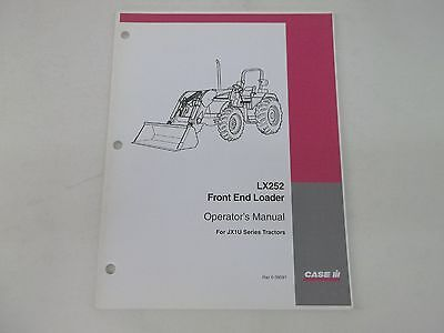 Case Ih Model Lx252 Front End Loader For Jx1u Series Tractors Operators Manual