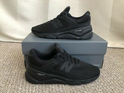 New Balance X-90 Mens Triple Black Trainers Size UK 9 EUR 43