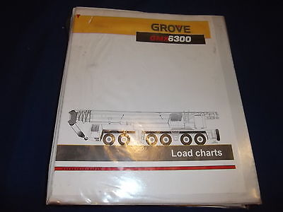 Grove Gmk 6300 Crane Load Charts Catalog Book Manual