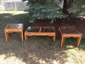 3 Piece Wicker coffee table set