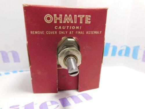 RHEOSTST / MODEL J / RE-19697 / 50w / OHMITE  / 1 PIECE (qzty)