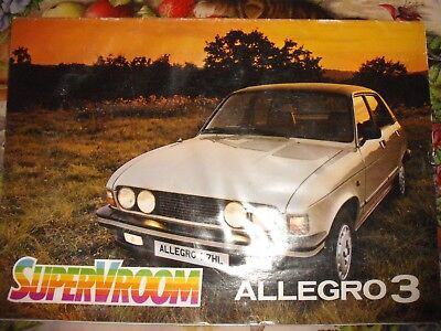 GENUINE AUSTIN ALLEGRO 3 `79 SALES BROCHURE 1.1 1.3 1.5 1.7 L HL SALOON ESTATE