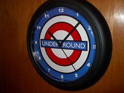 London Underground EMO Subway Station Train Advertising Black Wall Clock Sign