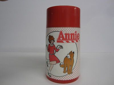 Vintage 1981 Annie Cartoon Lunch Box Thermos by - Cartoon Annie