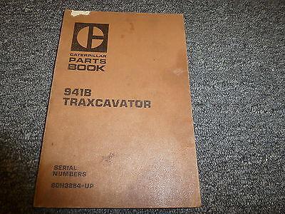 Caterpillar Cat 941b Traxcavator Crawler Parts Catalog Manual Sn 80h3884-up