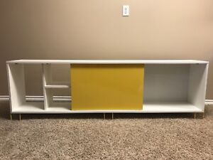TV stand (white and yellow