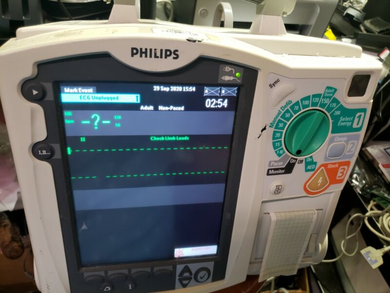 Philips Heartstart MRX - ECG Spo2 - TESTED/PASSED - NO Battery/Pads/AC Adapter