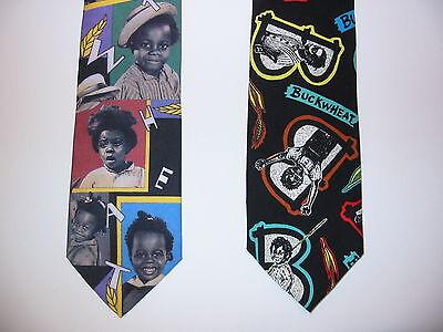 2 Lot Buckwheat Ralph Marlin 90's Fashion Necktie Teacher Boss Gift USA NWOT