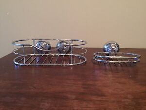Matching soap dish and shower caddy