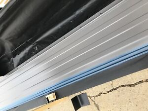 Metal roofing. Pieces