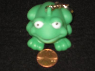 Soccer Ball or Frog Key Chain - Soft Rubber, Sports, Green Frog, Squishy, Cute! - Soccer Ball Keychains