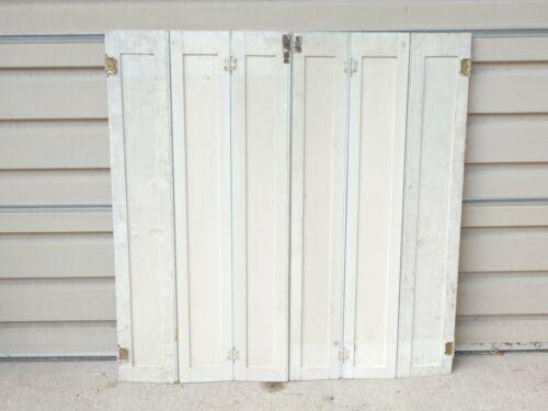 ANTIQUE OLD VINTAGE ORIGINAL TRI FOLD PANEL INTERIOR WINDOW SHUTTERS VICTORIAN