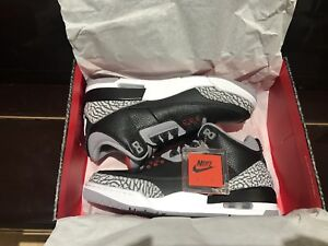 Selling black cement 3s 2018 size 8.5!