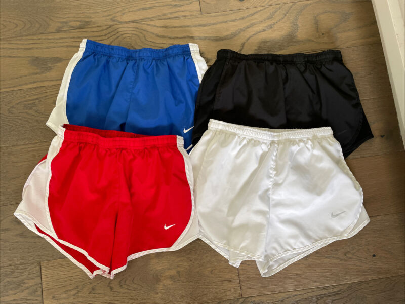 Lot Of 4 Pair Youth Girls NIKE Dri Fit Shorts Size M Medium kids